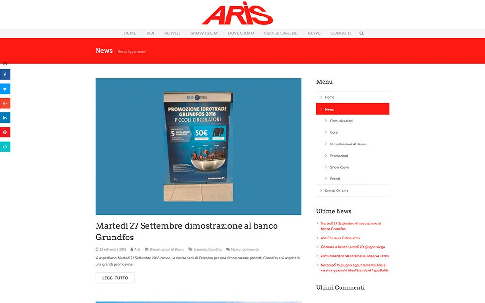 Sito Web Aris Cremona