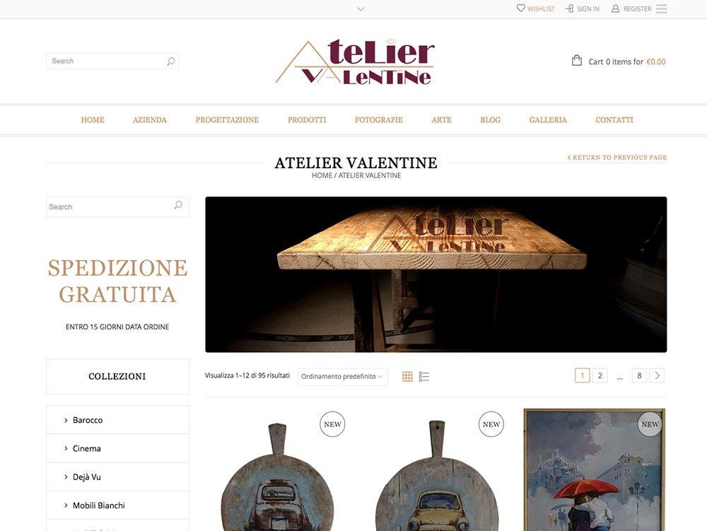 Ecommerce Atelier Valentine