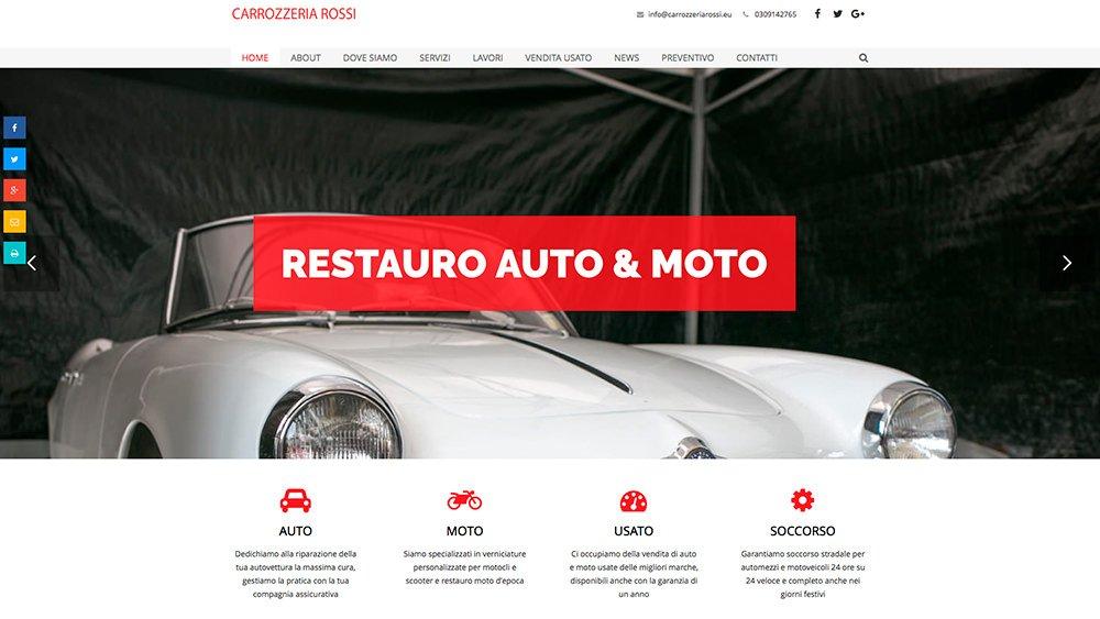 Sito Web Carrozzeria Rossi