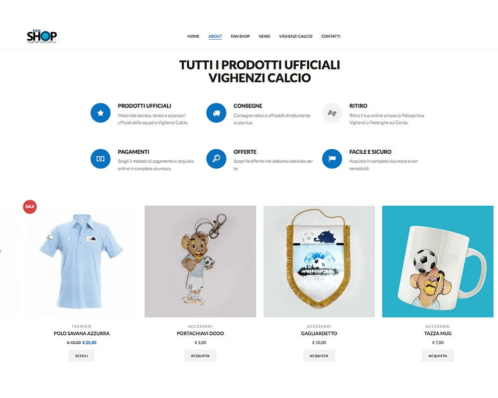 Sito Web Vighenzi Fan Shop
